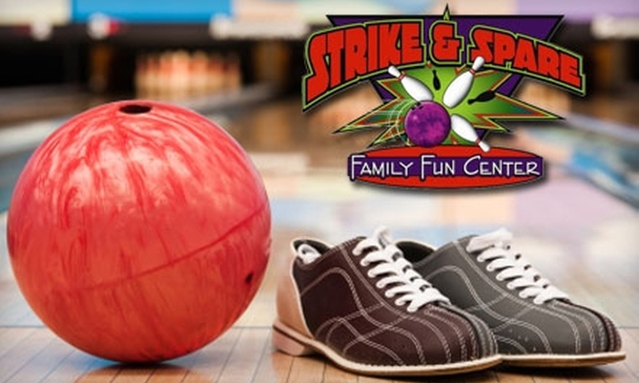 Strike & Spare Family Entertainment - Multiple Locations: $5 for Two Games of Bowling Plus Shoe Rental at Strike & Spare Family Entertainment (Up to $13 Value). Choose from Five Locations.