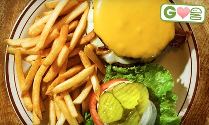 Bourbon Park Bar & Grill - Feeding Hills: $7 for Two Burgers and Two Orders of Fries at Bourbon Park Bar & Grill (Up to $16 Value)