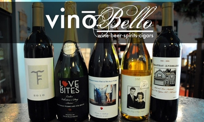 Vino Bello - Kansas City: $15 for $30 Worth of Personalized Wine, Gifts, and Accessories at Vino Bello