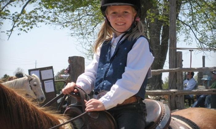 Five Star Ranch - Campbellville: Horseback Riding at Five Star Ranch in Campbellville. Two Options Available.