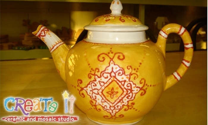 Create It Ceramics - Stanford University: $10 for $20 Worth of Pottery Painting at Create It Ceramics in Palo Alto