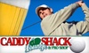 Caddy Shack Lounge and Pro Shop - Downtown: $50 for a Four-Player Virtual Golf Game, Two Pizzas, and a Pitcher of Domestic Beer at Caddy Shack Lounge and Pro Shop