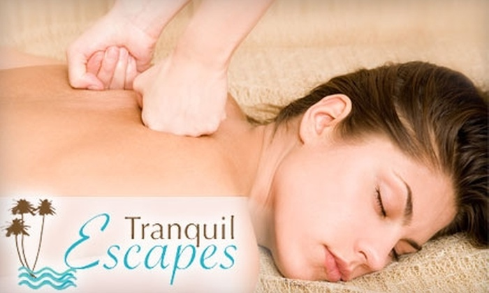 Tranquil Escapes - Central Indianapolis: Relaxing Massage for One or Two at Tranquil Escapes. Choose from Four Options.