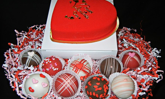 The Cake Pop Goddess - Midtown: Valentine Cake Truffle Box or One Dozen Cupcake Pops at The Cake Pop Goddess (Up to 53% Off)