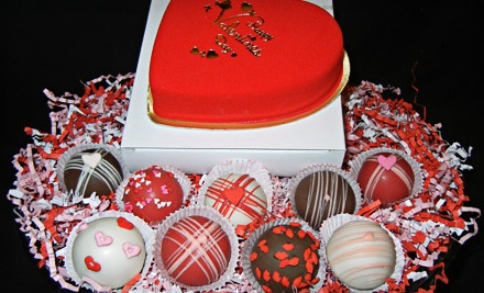 Valentine Box of 9 Cake Truffles (a $35 value) - The Cake Pop Goddess in Anchorage