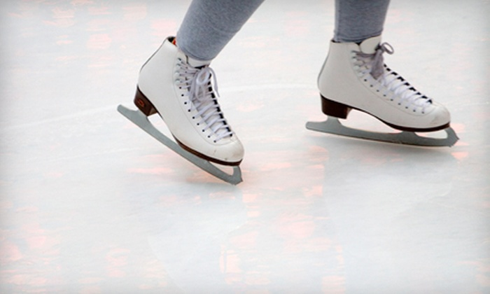 Iceoplex - Simi Valley: Ice-Skating Outing and Skate Rental for Two or Four People at Iceoplex in Simi Valley (Up to 56% Off)