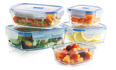 Luminarc PureBox Glass Food-Storage Set (10-Piece)