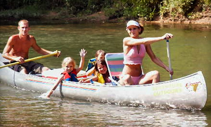 Green's Canoe Rental & Campground - Steelville: Canoe Rental for Two, with Two-Night Camping Option, from Green's Canoe Rental & Campground in Steelville