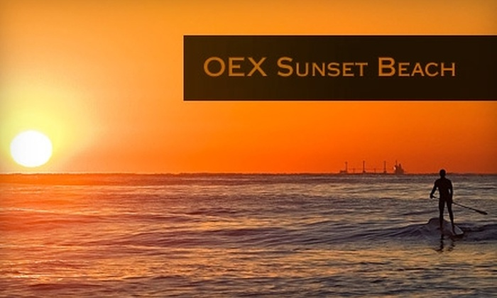 OEX Sunset Beach - Orange County: $30 for a Stand-Up Paddleboard Lesson from OEX Sunset Beach ($60 Value)