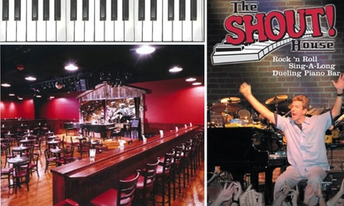 Shout House Dueling Pianos - Downtown West: $10 for $20 Worth of Spirits and Snacks at Shout House Dueling Pianos