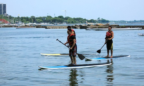 $24.99 for a Stand-Up-Paddleboarding Lesson and Rental from Toronto Adventures Inc (a $49.95 Value)