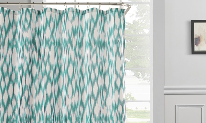 Kensie Caitlin Faux-Satin Shower Curtain | Groupon