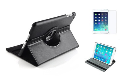Rotating iPad Case with Tempered Glass Screen Protector in Choice of Colour for AED 49 (Up to 69% Off)