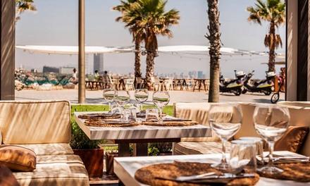 Menú Vista Mar para 2 o 4 personas con pizzeta, entrante, principal y postre desde 42,90 € en Mamarosa Beach