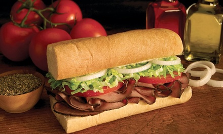 Sub Sandwiches, Salads, and Wraps at Blimpie (40% Off). Two Options Available.