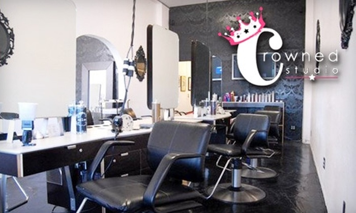 Crowned Studio Salon - Old Pasadena: $50 for a Haircut and Deep-Conditioning Treatment at Crowned Studio Salon in Pasadena (Up to $140 Value)