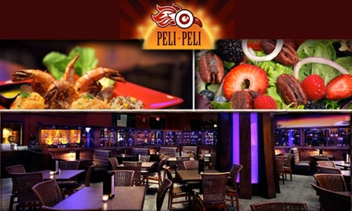 Half off at peli peli peli peli 2 locations please for African cuisine houston