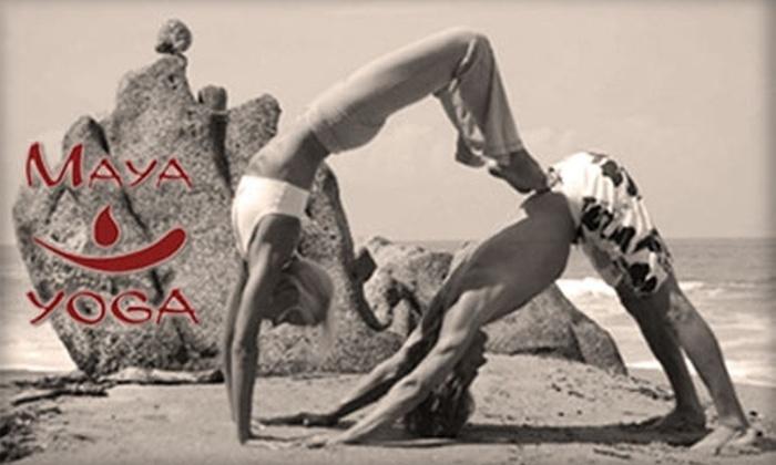 Maya Yoga - Crossroads: $15 for Three Body-and-Mind-Uniting Yoga Classes at Maya Yoga ($45 Value)