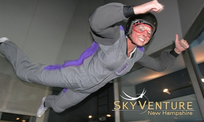 Skyventure New Hampshire - Southeast Nashua: $55 for a Four-Minute Indoor Skydiving Experience at SkyVenture New Hampshire (Up to $95 Value)