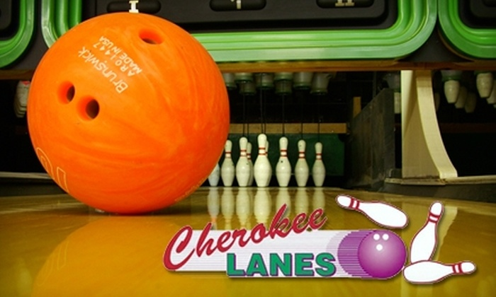 Cherokee Lanes - Canton: $25 for Two Hours of Bowling and Shoe Rental for Up to Four People at Cherokee Lanes in Canton ($60 Value)