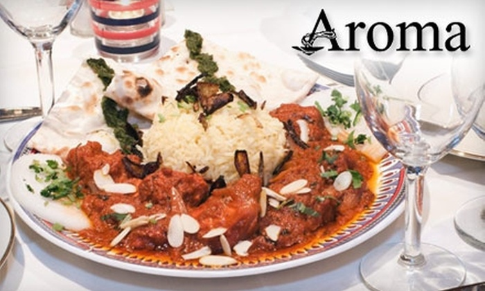 Aroma Indian Cuisine - Multiple Locations: $12 for $25 Worth of Indian Cuisine at Aroma Indian Restaurant