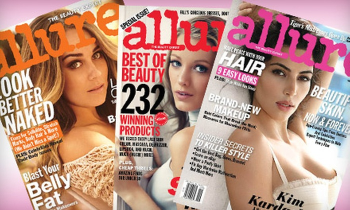 """Allure"" Magazine: $10 for a One-Year Subscription to ""Allure"" Magazine ($20 Value)"