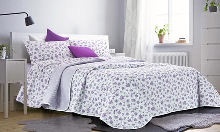 Collezione letto roselline con completi di lenzuola, copripiumini, trapunte estive e coppie federe