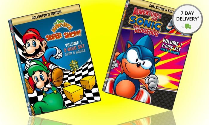 Sonic the Hedgehog and Super Mario Bros. DVD Bundle: Adventures of Sonic the Hedgehog and The Super Mario Super Show DVD Bundle. Free Returns.