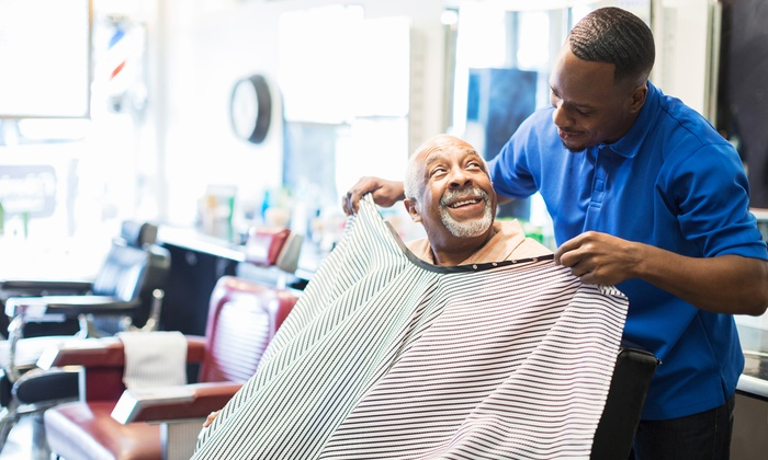 Manhattans Barber Lounge - Nashville-Davidson metropolitan government (balance): Men's Haircut w/ Facial and Shoe Shine or Shave w/ Facial and Cigar at Manhattans Barber Lounge (Up to 57% Off)