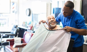 Manhattans Barber Lounge: Men's Haircut w/ Facial and Shoe Shine or Shave w/ Facial and Cigar at Manhattans Barber Lounge (Up to 59% Off)