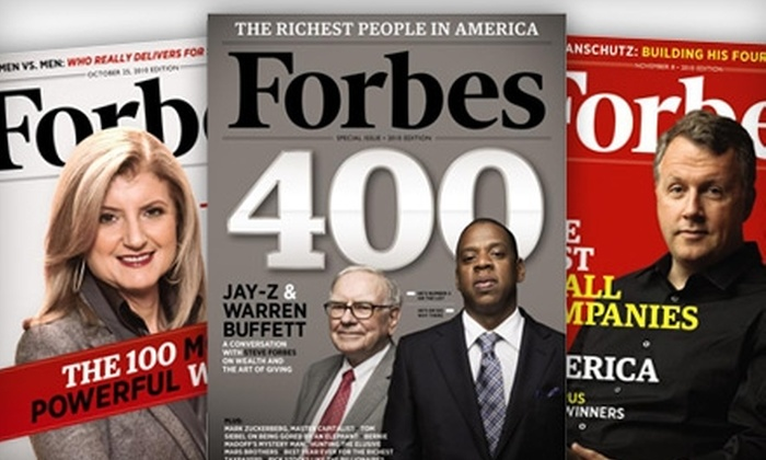 """""""Forbes"""" Magazine - Upper East Side: $14 for 26 Issues of """"Forbes"""" Magazine ($29.95 Value)"""