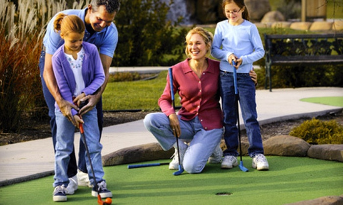 Golfland - Multiple Locations: Mini-Golf-and-Arcade-Games Outing for Two or Four at Golfland (Up to 55% Off). Four Locations Available.