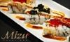 Mizu Sushi Bar - Downtown St. Louis: $15 for $30 Toward Japanese Dinner at Mizu Sushi Bar (or $10 for $20 Toward Lunch)