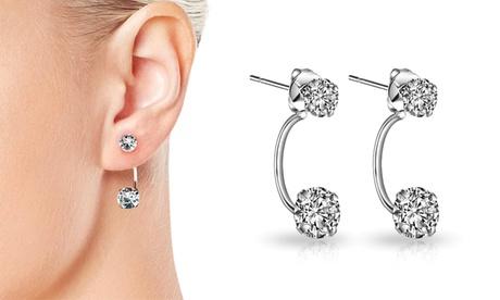 Fino a 6 paia di orecchini Philip Jones con cristalli Swarovski® e perle di madreperla disponibili in 3 modelli