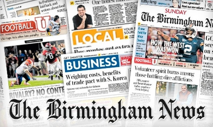 "The Birmingham News - Birmingham: $39 for One-Year Sunday-Only Subscription to ""The Birmingham News"""