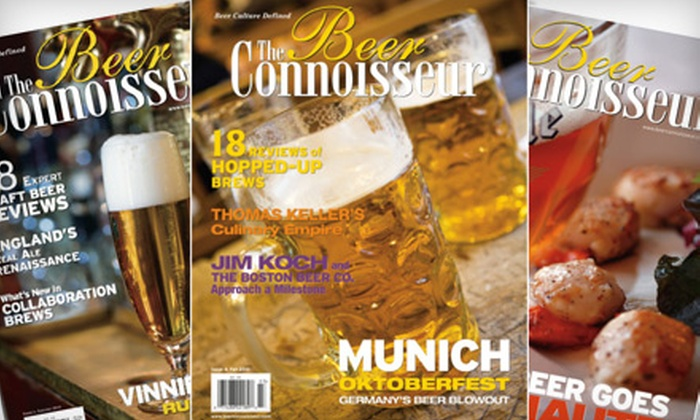 "The Beer Connoisseur - Marietta: Subscriptions to ""The Beer Connoisseur"" from Beer Connoisseur Magazine (Up to 58% Off). Three Options Available."