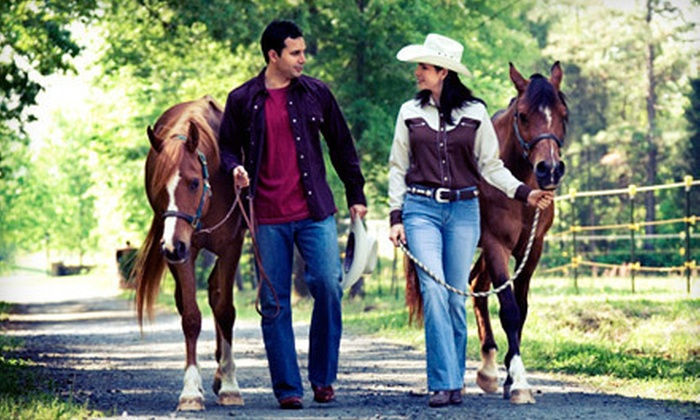 Cowboy Jim's Western Adventures - Plymouth: $35 for 60-Minute Western-Style Horseback-Riding Lesson at Cowboy Jim's Western Adventures in Plymouth ($75 Value)