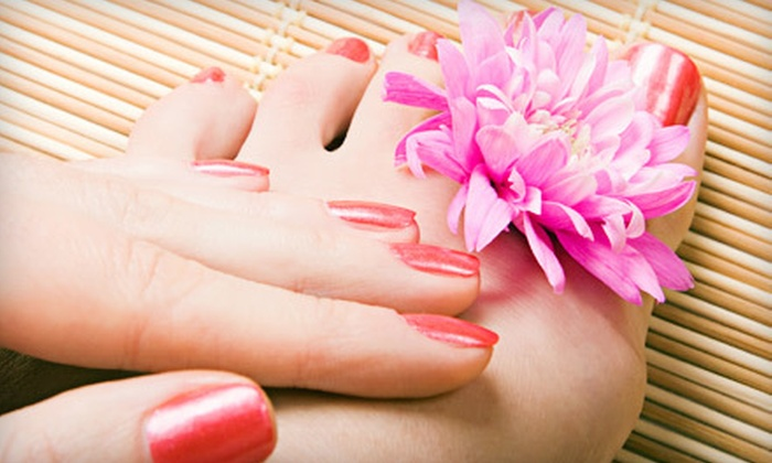 Nails by Nancy - Noe Valley,Transmission,Bernal Heights: One or Three Signature Mani-Pedis at Nails By Nancy (Up to 56% Off)