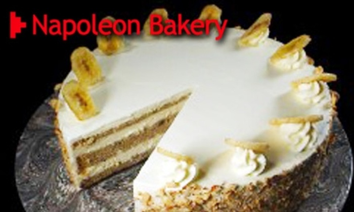 Napoleon Bakery and Cafe - Wendell Phillips: $10 for $20 Worth of Pastries, Sandwiches, and Cakes at Napoleon Bakery and Cafe