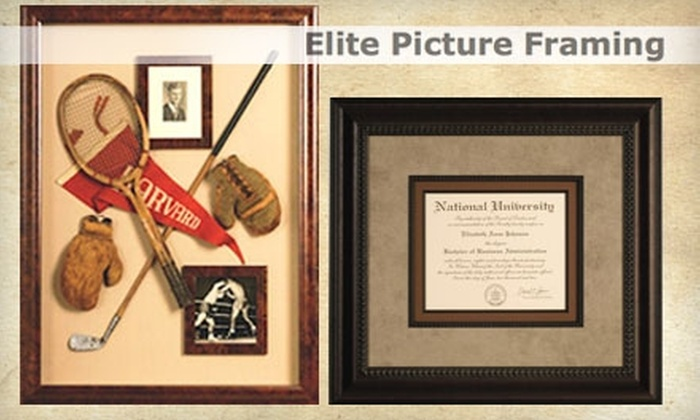 Elite Picture Framing - Morris: $40 for $100 Worth of Custom Framing at Elite Picture Framing