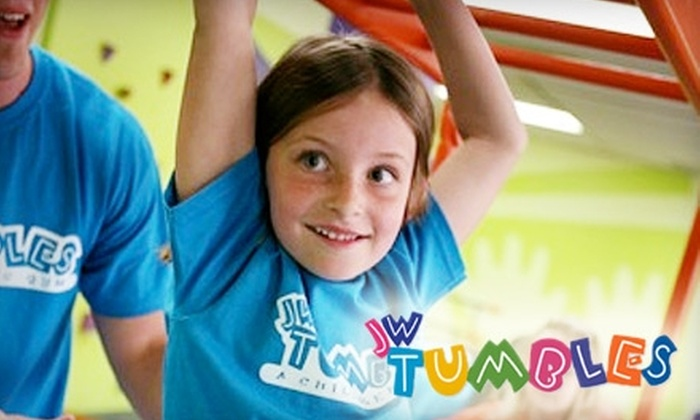 JW Tumbles - Multiple Locations: $39 for Three Classes, 10 Playspace Passes, and a Lifetime Family Membership at JW Tumbles ($195 Value)