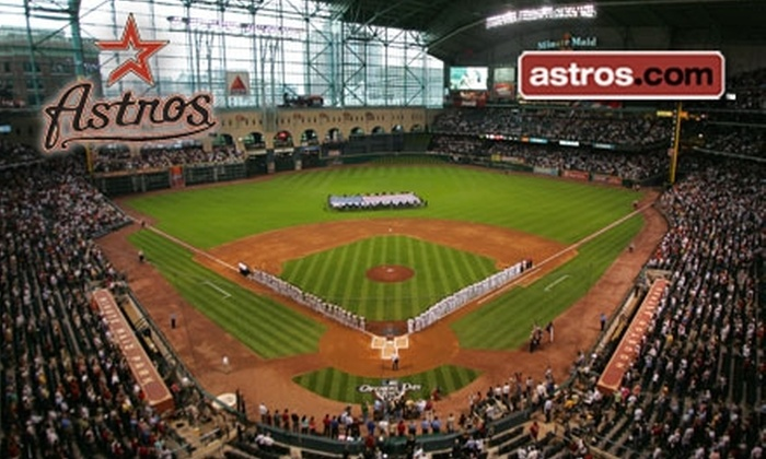 Houston Astros - Settagast: $22 for One Field-Box Ticket to the Houston Astros ($39 Value). Choose from Astros vs. Marlins on Tuesday, April 20, at 7:05 p.m. or Astros vs. Padres on Saturday, May 8, at 6:05 p.m.