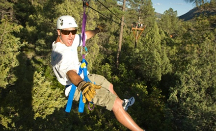 Zipline Tour for 1 (a $145 value) - Full Blast Adventure Center in Durango