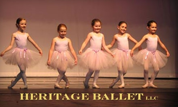 Heritage Ballet - Lincoln: Ballet and Jazz Classes at Heritage Ballet in Lincoln. Choose from Three Options.