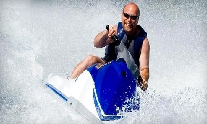 Great White Water Sports - Hampton Roads: Jet-Ski Rides for up to Two People from Great White Water Sports in Virginia Beach. Two Options Available.
