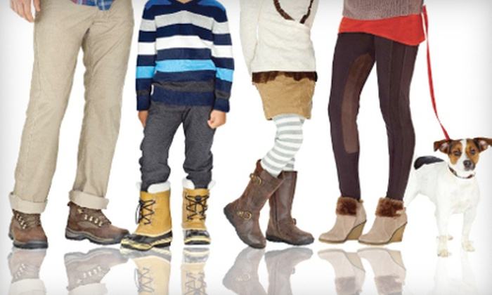 The Shoe Company - Multiple Locations: $20 for $40 Worth of Shoes, Boots, and Handbags at The Shoe Company
