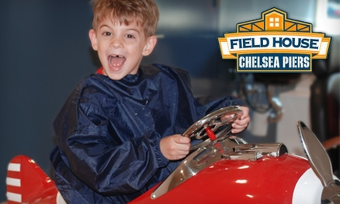 The Field House at Chelsea Piers - Chelsea: $15 for Children's Haircut at Chelsea Shears and Four Batting-Cage Tokens or One Exploration Center Admission at the Field House at Chelsea Piers (Up to $37 Value)