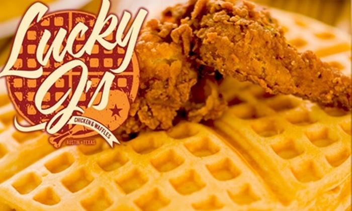 Lucky J's Chicken & Waffles - Multiple Locations: $10 for Any Four Waffle Tacos at Lucky J's Chicken & Waffles ($20 Value)