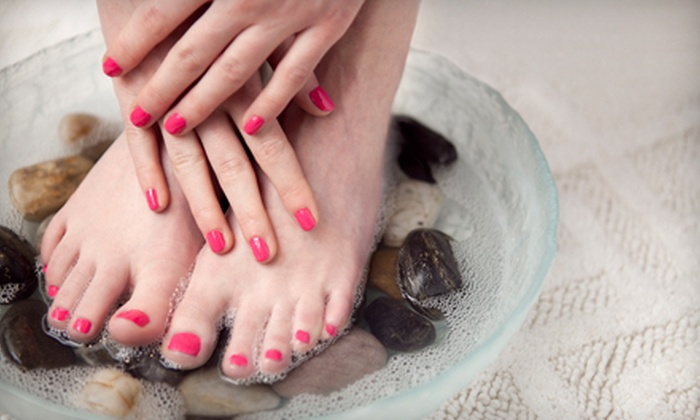 A Touch of Class - Reno: Express Mani-Pedi with Gel Polish or a Full Set of Acrylic Nails for the Hands at A Touch of Class (Up to 55% Off)