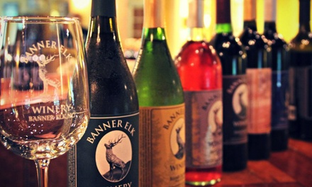 Regular or Reserve Wine Tasting with Take-Home Glasses for Two at Banner Elk Winery & Villa (Up to 55% Off)